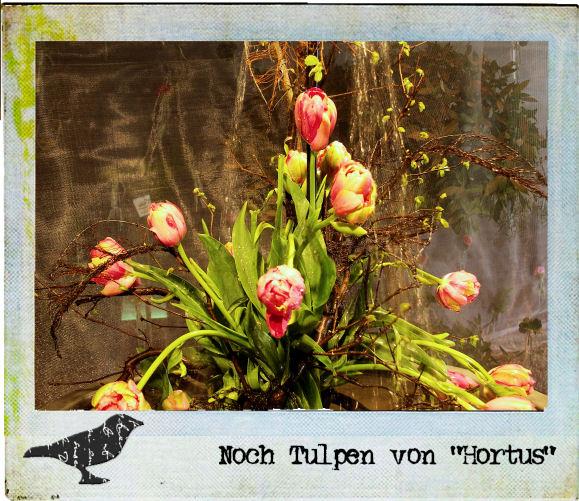"""Ein Tulpengesteck in der """"Hortus""""-Ausstellung"""