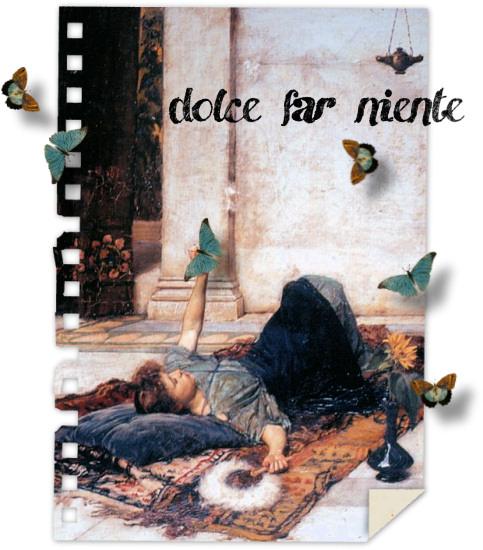 dolche far niente, ein Gemälde von John William Waterhouse