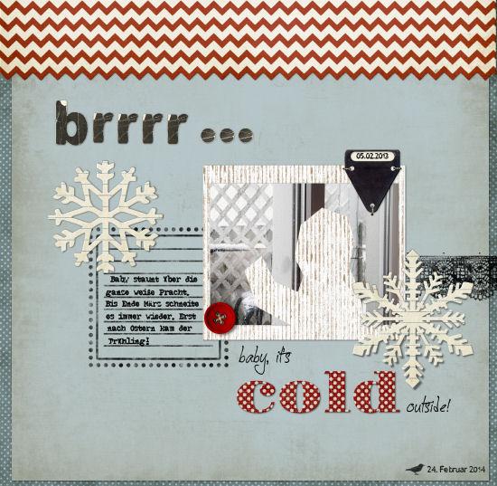 """Die Rabenfrau: Scrapbook-Layout """"brrrr..."""""""