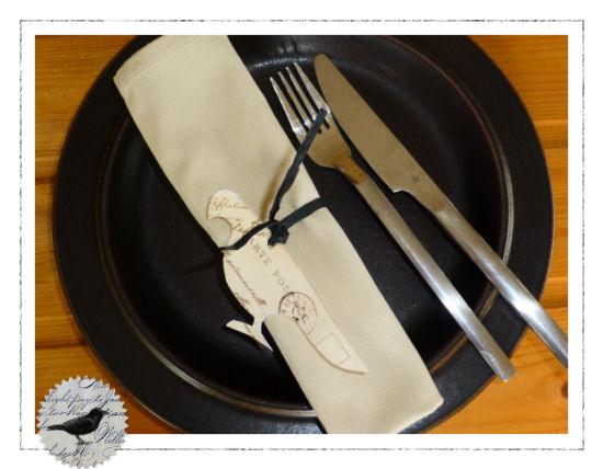Die Rabenfrau: Tischdeko