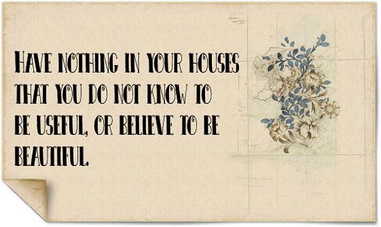 Die Rabenfrau: Zitat William Morris