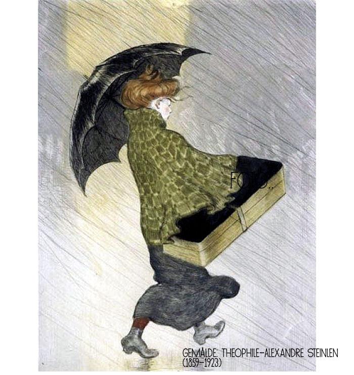 Die Rabenfrau: Schietwetter (Theophile-Alexandre Steinlen)