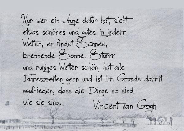 Die Rabenfrau: Zitat und Bild von van Gogh